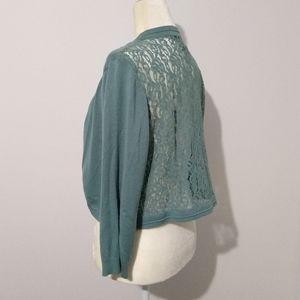 5/$25 89th & Madison Sage Green Lace Cardigan XL